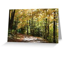 Fall country road. Greeting Card