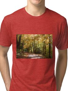 Fall country road. Tri-blend T-Shirt