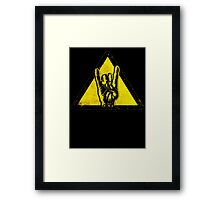 Heavy metal warning Framed Print