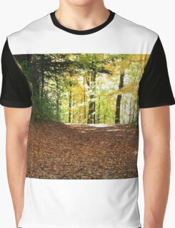 Forest road in Fall season. Graphic T-Shirt