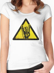 Heavy metal warning Women's Fitted Scoop T-Shirt