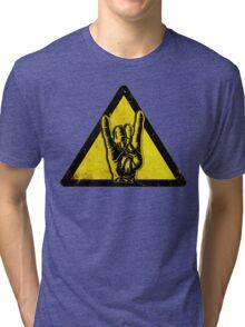 Heavy metal warning Tri-blend T-Shirt