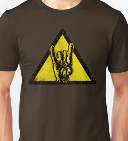Heavy metal warning Unisex T-Shirt