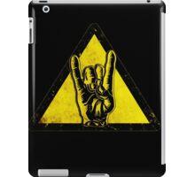 Heavy metal warning iPad Case/Skin