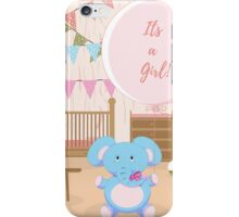 Baby shower announcement: Its a girl! iPhone Case/Skin