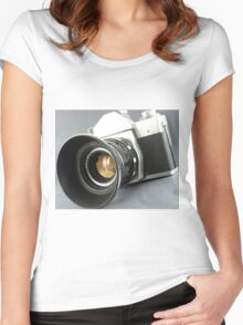 Photographic camera Women's Fitted Scoop T-Shirt