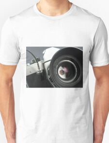 Camera in action. Unisex T-Shirt