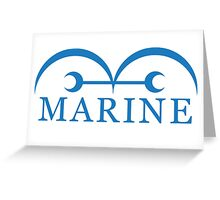One Piece Marine Greeting Card