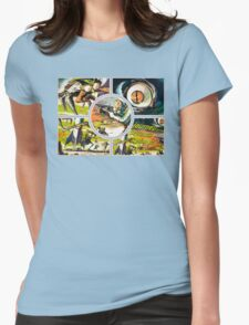 Retro Sci-fi Womens Fitted T-Shirt