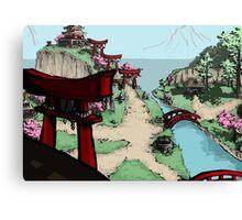 Blossom Village Canvas Print