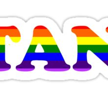 GAY SUPPORT STANK LOGO CAUSE BEING GAY IS COOL Sticker