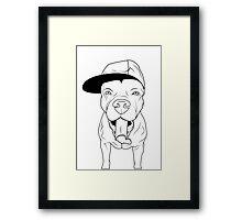 dogs, cute puppy pitbull Framed Print