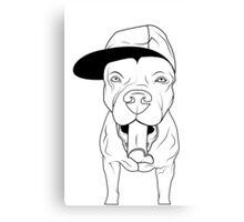 dogs, cute puppy pitbull Canvas Print