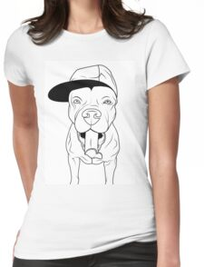 dogs, cute puppy pitbull Womens Fitted T-Shirt