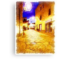 Arzachena: night road Canvas Print