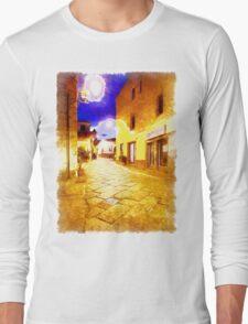 Arzachena: night road Long Sleeve T-Shirt