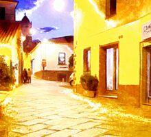 Arzachena: night road Sticker