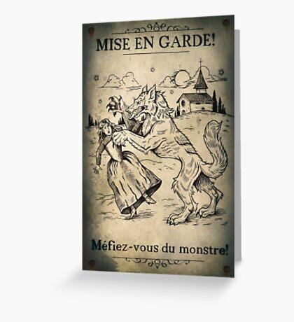 Loup Garou Greeting Card