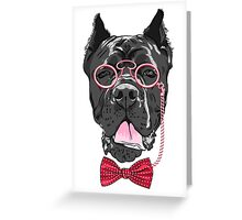 Hipster dog Cane Corso Greeting Card