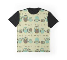 Energetic Owls Graphic T-Shirt