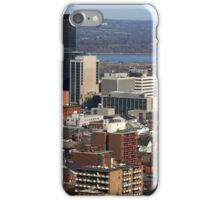 North-American Downtown in cold  sunny day. iPhone Case/Skin