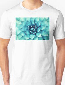 Macro Turquoise Plant Unisex T-Shirt