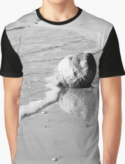 Coconut Washed Up On Beach Graphic T-Shirt