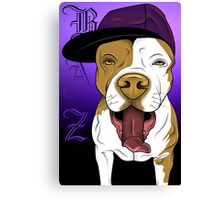 art dog pitbull Canvas Print