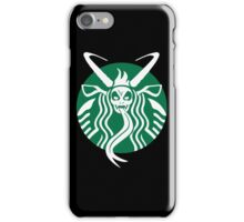 Krampuspresso - Caffeine Demon (BLACK) iPhone Case/Skin