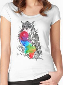 Owl stand by you Women's Fitted Scoop T-Shirt