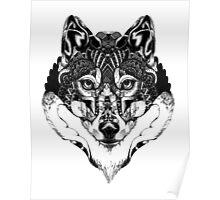 Wolf Mandala Poster