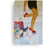 Going shopping Canvas Print