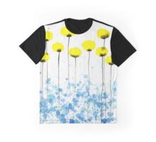 Lovely Lady -- Yellow Watercolor Flowers Graphic T-Shirt