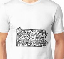 Pennsylvania State Zentangle Unisex T-Shirt