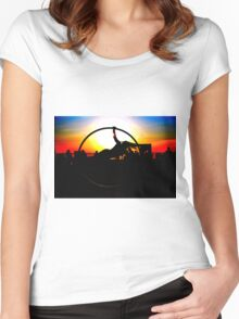 Sunset Celebration Russell Harris Women's Fitted Scoop T-Shirt