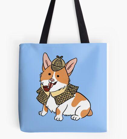 Sherlock Corgi  Tote Bag