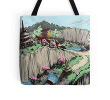Blossom Village Flyover  Tote Bag