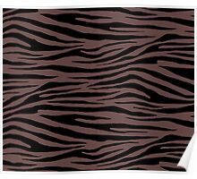0583 Rose Ebony Tiger Poster