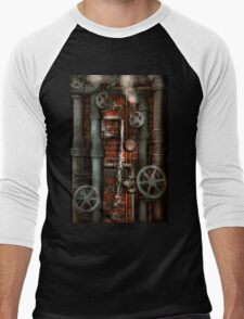 Steampunk - Plumbing - Pipes and Valves Men's Baseball ¾ T-Shirt