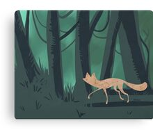 Slinky Fox Canvas Print