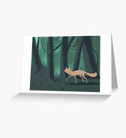Slinky Fox Greeting Card