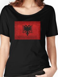 Flag of Albania - Super Grunge Women's Relaxed Fit T-Shirt