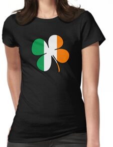 Four Leaf Clover/Shamrock  Ireland Flag  Womens Fitted T-Shirt