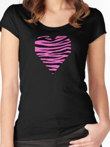 0586 Rose Pink Tiger Women's Fitted Scoop T-Shirt