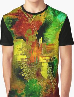 Abstract in Green Graphic T-Shirt