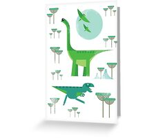 Dinos Greeting Card