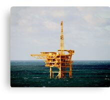 Yellow Oil Rig Canvas Print