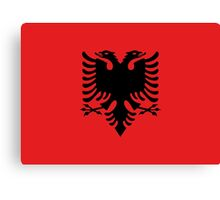Albanian national flag in authentic color and scale. Canvas Print