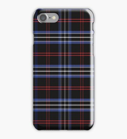 Blue and black pattern Scottish tartan iPhone Case/Skin