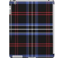 Blue and black pattern Scottish tartan iPad Case/Skin